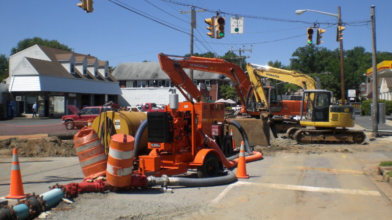 Fredericksburg VA waterline utilities project