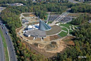 Marine Corps Museum bird's eye view