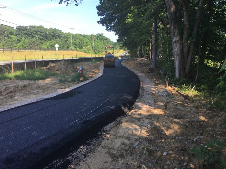 Mason Neck Trail Construction