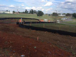 grass construction site